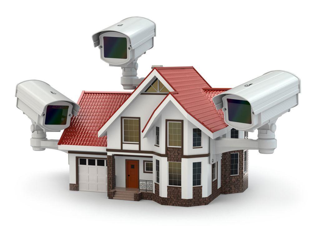 Casa con telecamere