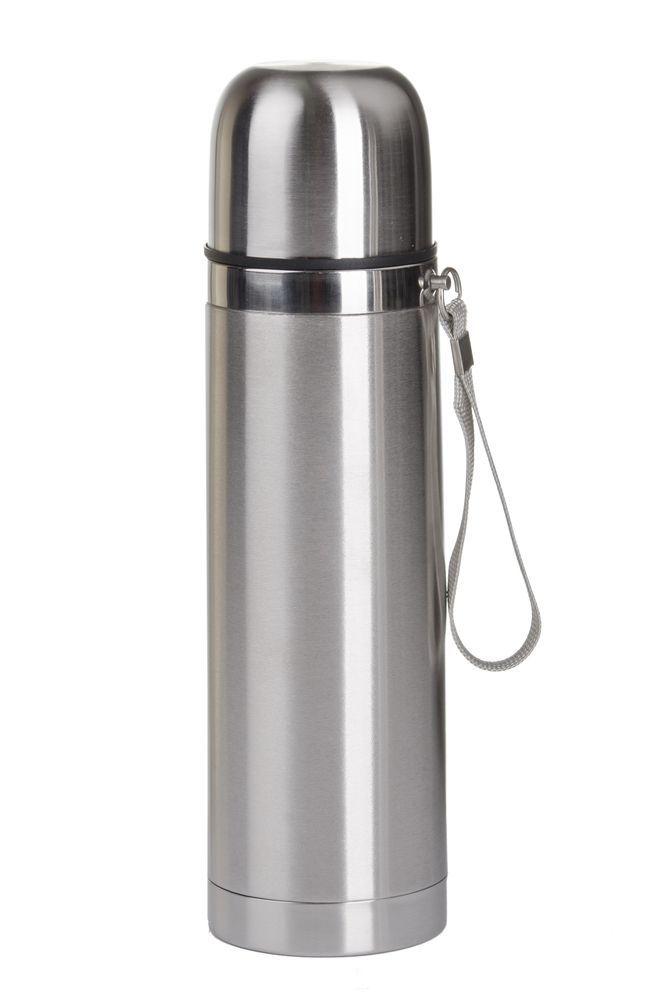 generica borraccia termica in alluminio con laccetto per il trasporto