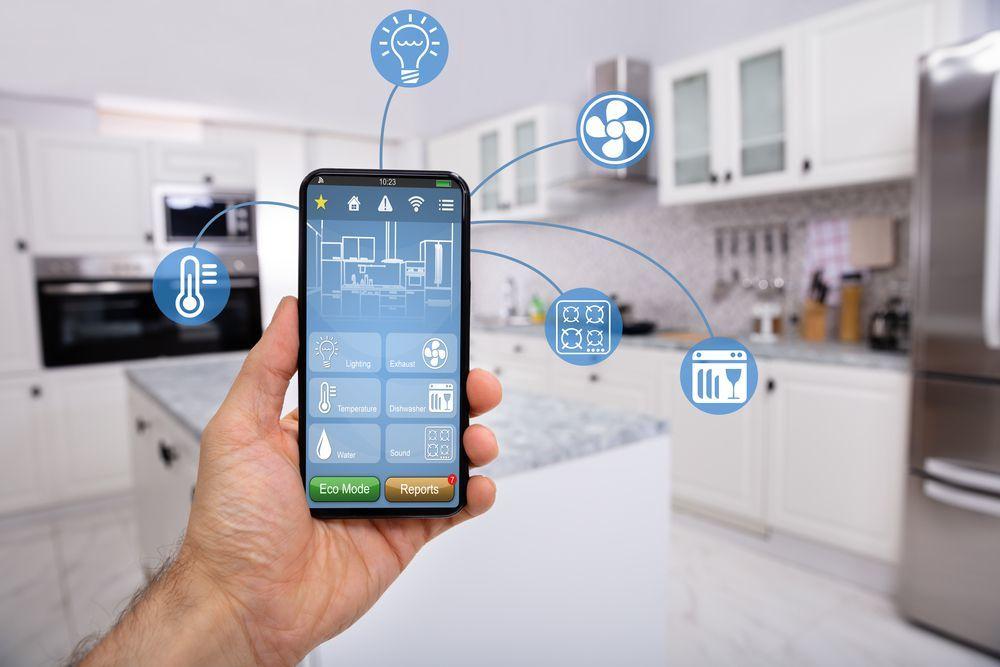 schermata di app che gestisce un termostato digitale wifi