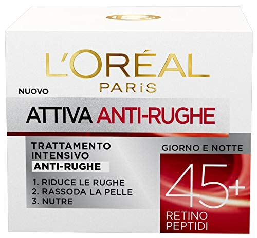 Crema antirughe L'Oréal Paris Attiva 45+